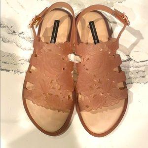 Worn once! Beautiful Melissa summer sandals